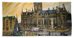 Albert Square Manchester 1900 Hand Towel