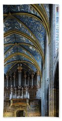 Albi Cathedral Nave Hand Towel by RicardMN Photography