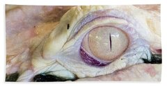 Albino Alligator Hand Towel by Lamarre Labadie