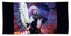 Bath Towel featuring the painting Albino Angel 3 by Suzanne Silvir