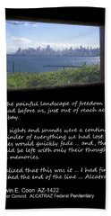 Alcatraz Reality - The Painful Landscape Of Freedom Bath Towel
