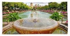Alcazar Gardens Cordoba Bath Towel