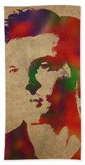 Alden Ehrenreich Watercolor Portrait Bath Towel