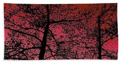 Alder Trees Against The Winter Sunrise Bath Towel