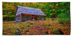 Alex Cole Cabin At Jim Bales Place, Roaring Fork Motor Trail In The Smoky Mountains Tennessee Hand Towel