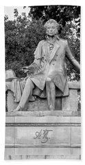 Alexander Pushkin Memorial Bath Towel