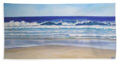 Bath Towel featuring the painting Alexandra Bay Noosa Heads Queensland Australia by Chris Hobel