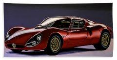 Alfa Romeo 33 Stradale 1967 Painting Hand Towel