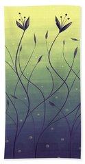 Algae Plants In Green Water Bath Towel