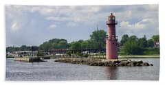 Algoma Pierhead Light Hand Towel