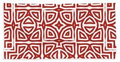 Alhambra Red Bath Towel