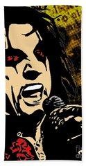 Alice Cooper Illustrated Bath Towel