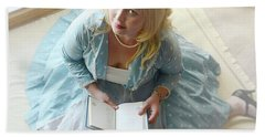 Alice In Wonderland Reads Her Story Hand Towel