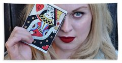 Alice Wins The Queen Of Hearts Hand Towel