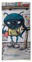 Alien Artist Hand Towel