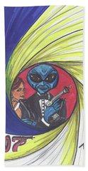 alien Bond Hand Towel