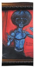 alien Bruce Lee Bath Towel