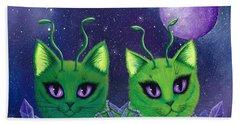 Alien Cats Hand Towel