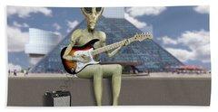 Alien Guitarist 2 Hand Towel