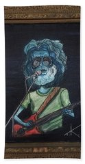 Hand Towel featuring the painting Alien Jerry Garcia by Similar Alien