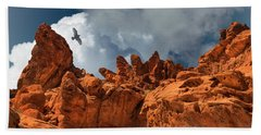 Alien Landscape Valley Of Fire Hand Towel