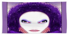 Bath Towel featuring the photograph Alien Mom #194 by Barbara Tristan