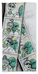 alien Photo Booth  Hand Towel