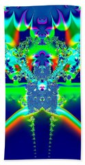 Bath Towel featuring the digital art Alien Poodle Fractal 96 by Rose Santuci-Sofranko