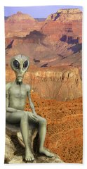 Alien Vacation - Grand Canyon Hand Towel by Mike McGlothlen