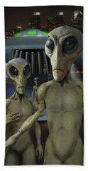 Alien Vacation - The Arrival  Bath Towel by Mike McGlothlen