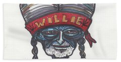 alien Willie Nelson Hand Towel