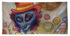 Alien Wonka And The Chocolate Factory Bath Towel