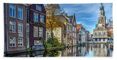 Alkmaar From The Bridge Bath Towel