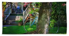 All American Summer Bicycle Bath Towel by Craig J Satterlee