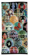 All Ostrich Eggs Collage Bath Towel