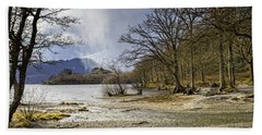 Bath Towel featuring the photograph All Seasons At Loch Lomond by Jeremy Lavender Photography