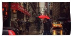 All That Jazz. New York In The Rain. Hand Towel