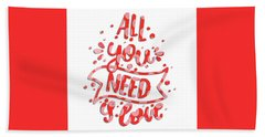 Hand Towel featuring the digital art All You Need Is Love by Edward Fielding