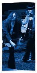 Allen Collins And Ronnie Van Zant Same Old Winterland Blues Bath Towel