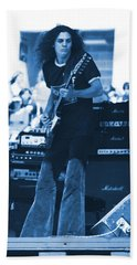 Allen Collins In Blue Oakland 1975 Bath Towel