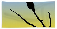 Allen's Hummingbird Silhouette At Sunrise Bath Towel