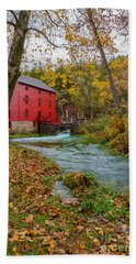 Alley Mill In Autumn Bath Towel