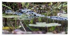 Alligator And Hatchling-2 Bath Towel