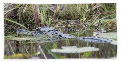 Alligator And Hatchling Bath Towel