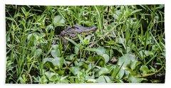 Alligator In Duck Weed, Louisiana Bath Towel