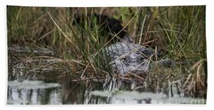 Alligator Lurks-0620 Bath Towel