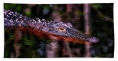 Alligator Waiting 003 Hand Towel
