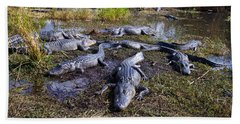 Alligators 280 Bath Towel by Michael Fryd