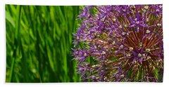 Allium Explosion Bath Towel by Tim Good