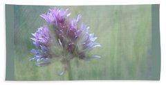 Allium Impressionism Hand Towel